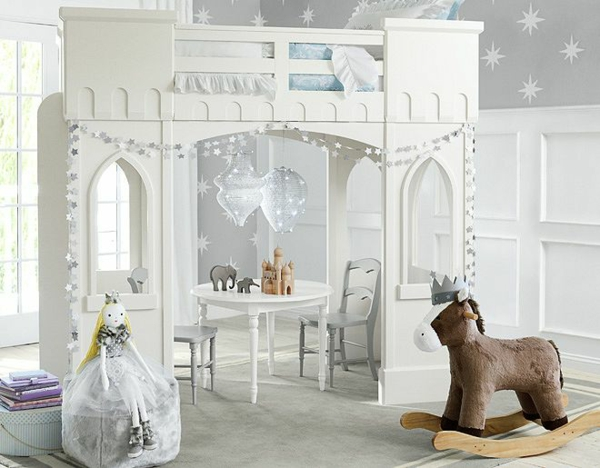 детска стая момичета бяло дизайн интериор