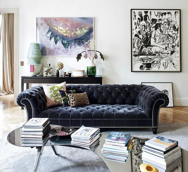 дизайн на апартамент във френски стил всекидневна обзавеждане