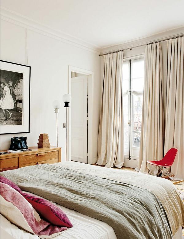 дизайн на апартамент френски стил интериор спалня бяло