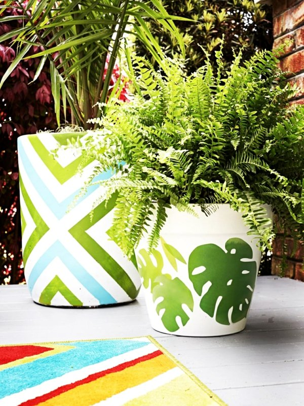 идеи -декорация на градина саксии