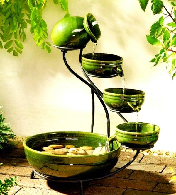 идеи за декорация на градина шадраван