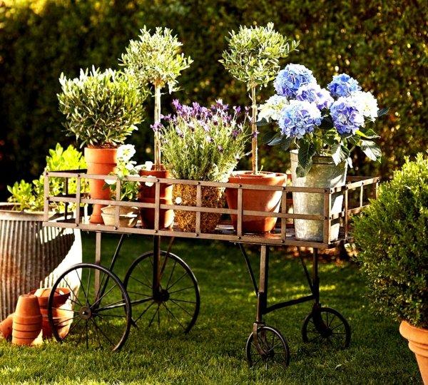 идеи за декорация на градина цветя