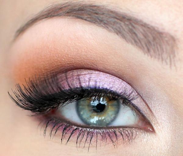 идеи летен грим сини очи розово