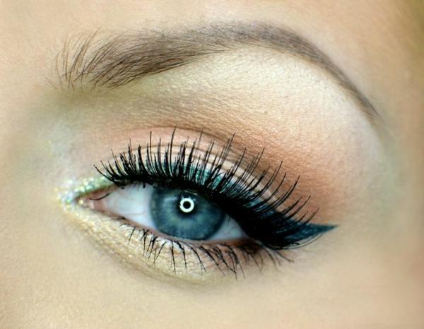 идеи за летен грим сини очи