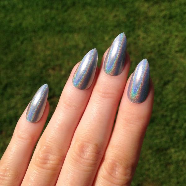 идеи остри нокти сиво