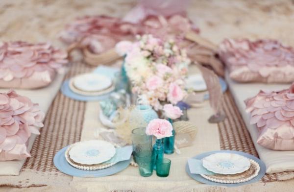 идеи сватбена украса цветя декорация