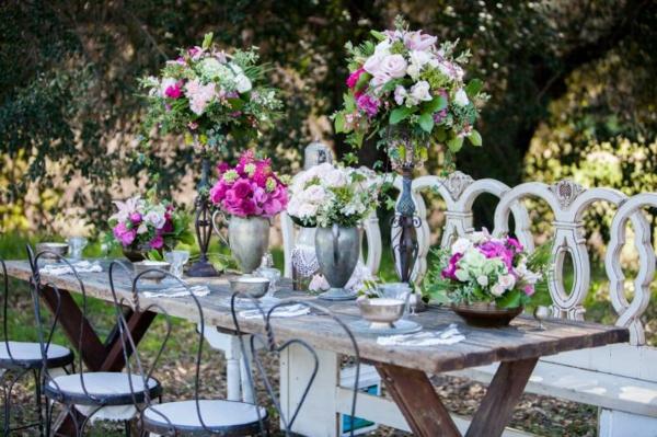 идеи сватбена украса маса декорация