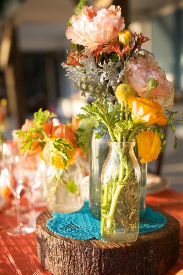 идеи сватбена украса цветя
