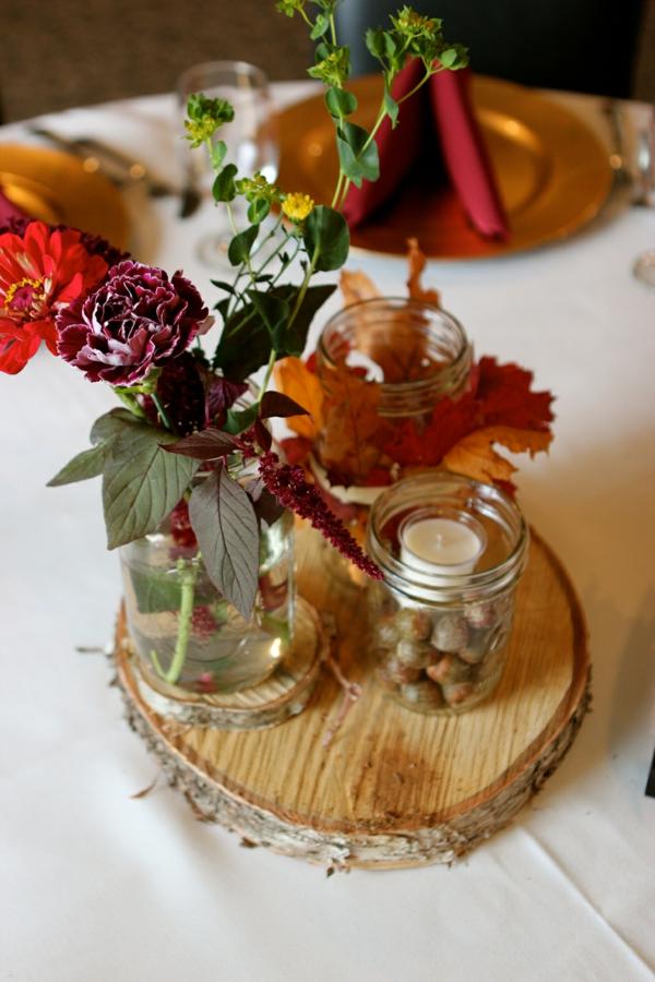 идеи сватбена украса свещи цветя