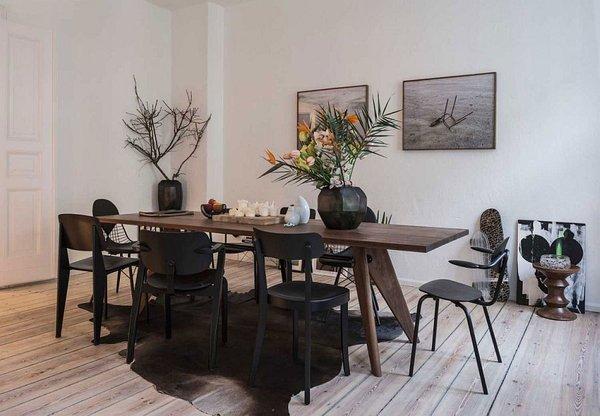 идея малък апартамент интериорен дизайн трапезария