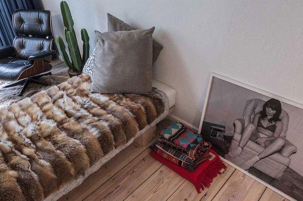 идея за малък апартамент интериорен дизайн спалня обзавеждане