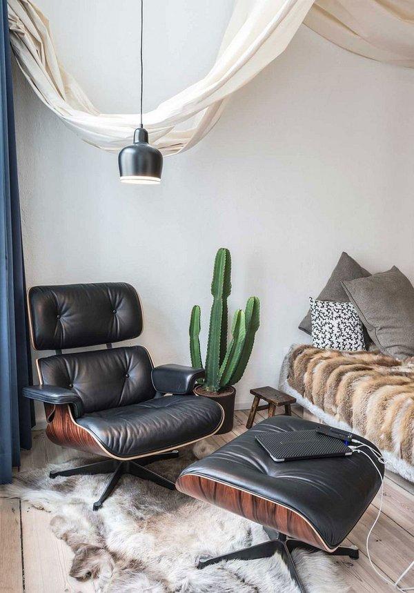 идея за малък апартамент  дизайн обзавеждане стол легло спалня