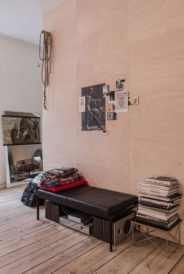 идея за малък апартамент интериорен дизайн паркет
