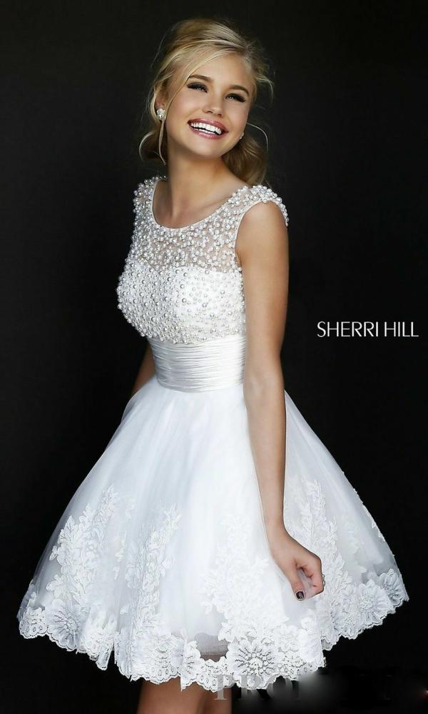 къса сватбена рокля средна дължина
