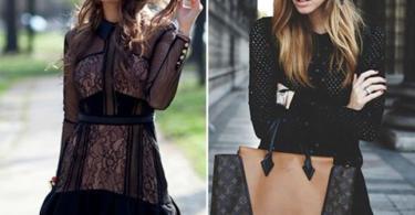 малка черна рокля стрийт стайл