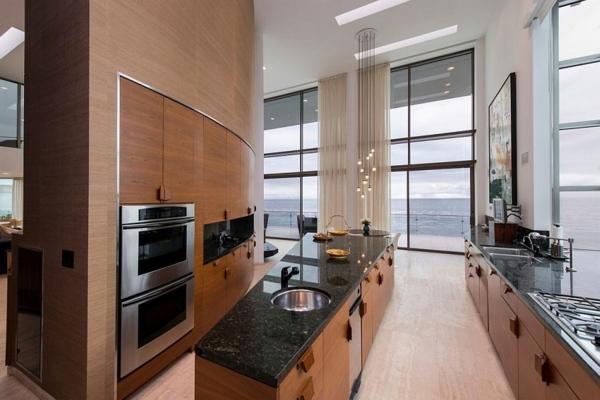 модерна къща на плажа кухня дизайн обзавеждане