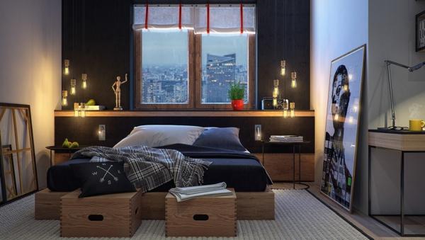 модерни-спални-интериор-дърво-обзавеждане