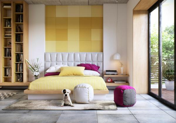 модерни-спални-интериор-обзавеждане-жълто