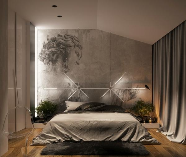 модерни-спални-обзавеждане-сиво-интериор