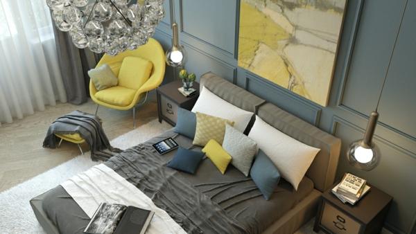 модерни-спални-обзавеждане-сиво-лягло-идеи