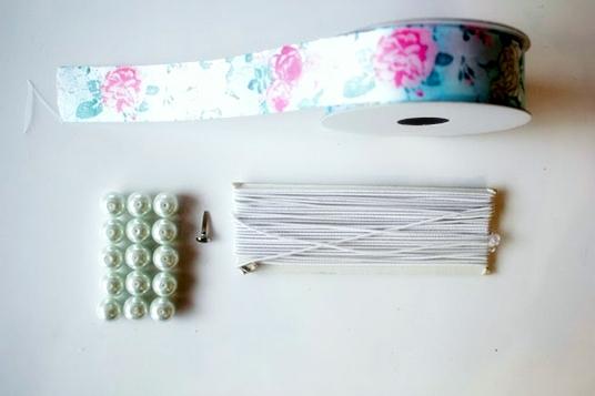 направи си сам гривни перли панделка материали