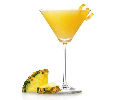 нискокалорични коктейли за лятото мартини ананас