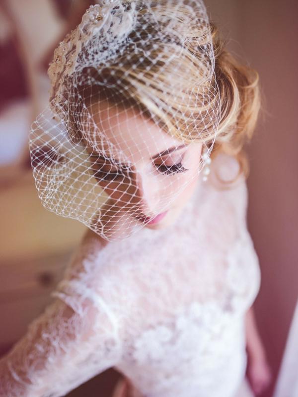 сватбени аксесоари за коса мрежа