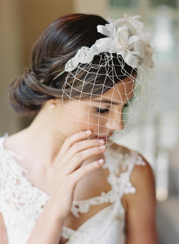 сватбени аксесоари коса мрежа диадема