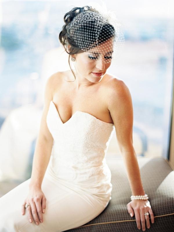 сватбени аксесоари коса мрежа
