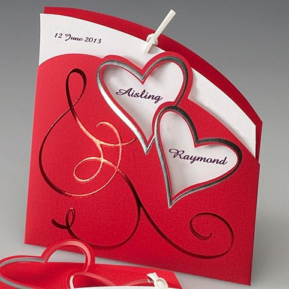 сватбени покани идеи сърца