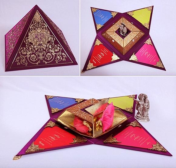 сватбени покани идеи пирамида