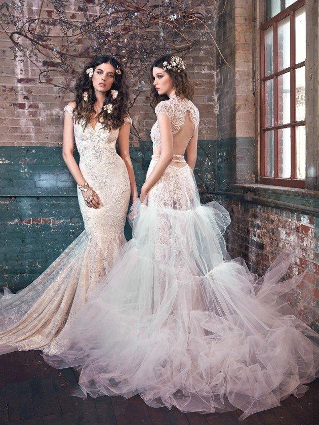 сватбени-рокли-дантела-къс-ръкав