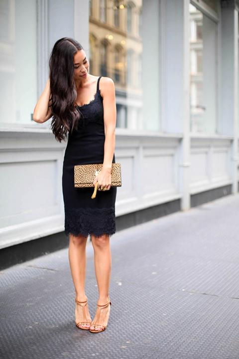 стрийт-стайл-малка-черна-рокля-дантела