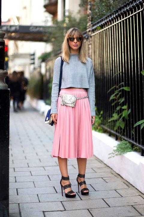 стрийт стайл розова пола