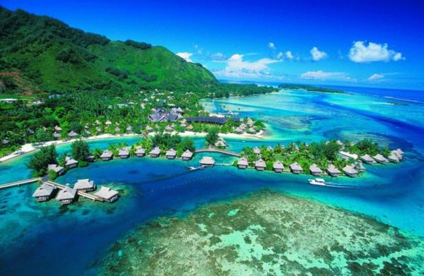 таити-океан-къщички-природа