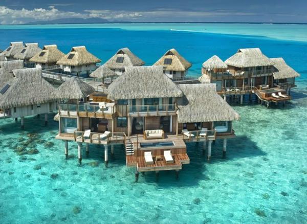 таити-океан-къщички-плаж