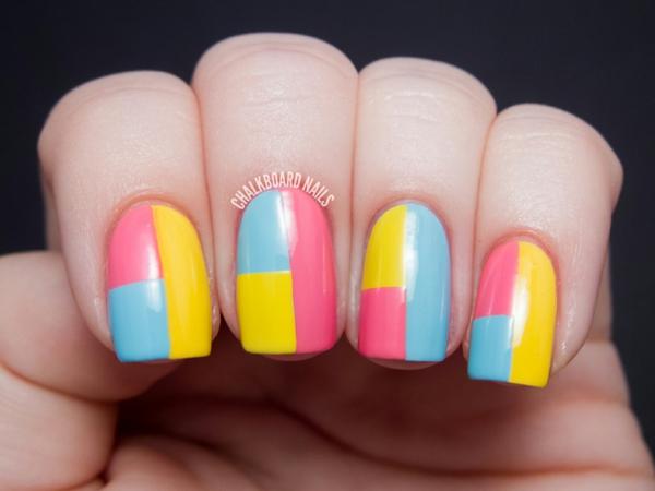 Летен маникюр в ярки цветове