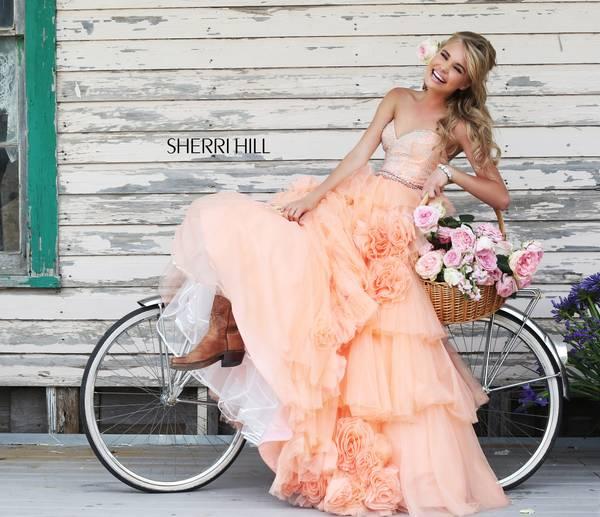 Шаферски рокли е прасковен цвят