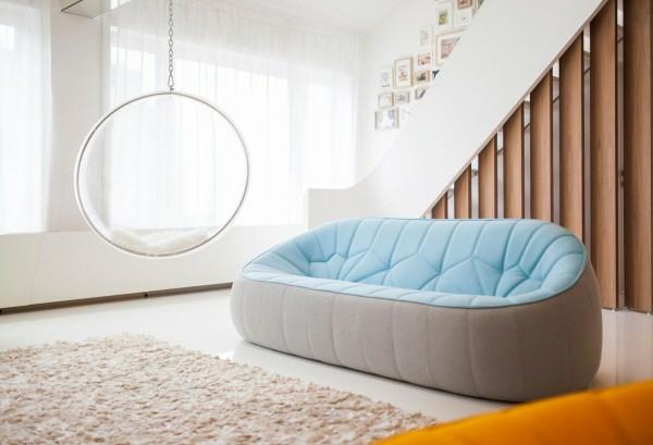 apartament interioren dizain futuristichen stil divan hol