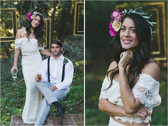 Бохемска сватба в градина