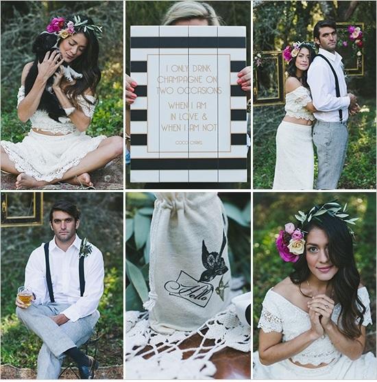 бохемска сватба в градина идеи
