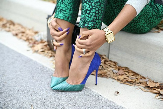 стрийт стайл цветни обувки