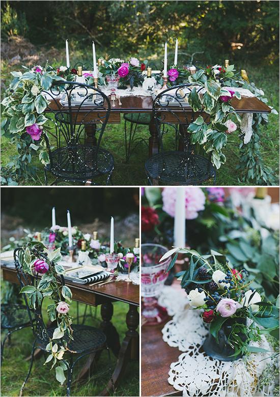 сватба в градина идеи украса с цветя