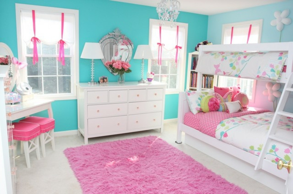 детска стая две за момичета дизайн интериор обзавеждане