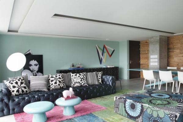 hol art stil interioren dizain obzavejdane cherno divan kilimi