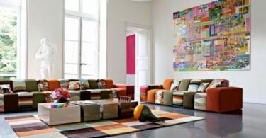 Артистичен интериорен дизайн в хола