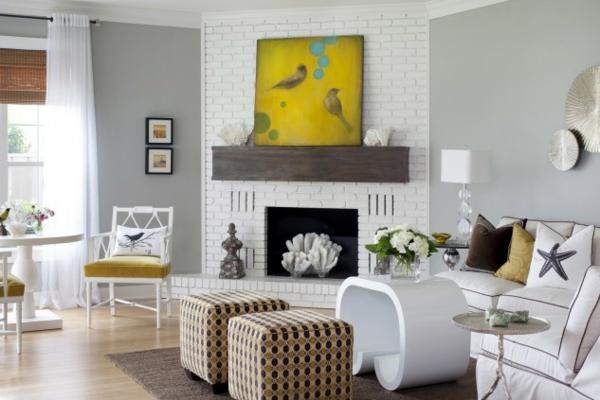interior dizain hol art stil obzavejdane kamina kartini mebeli