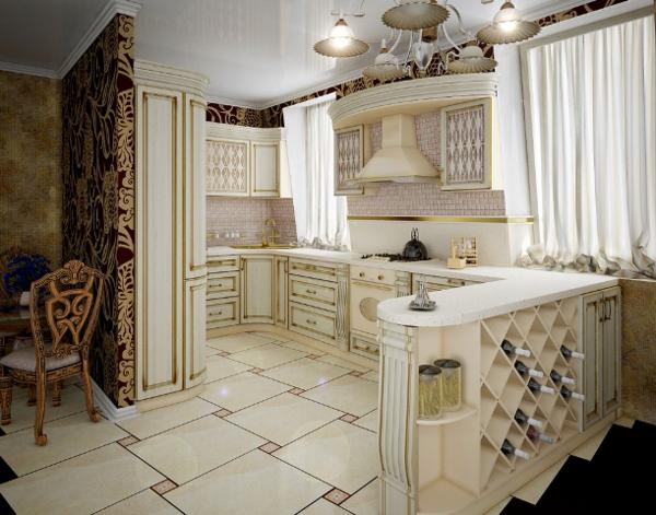 kuhnq tradicionen stil dizain interior bqlo obzavejdane