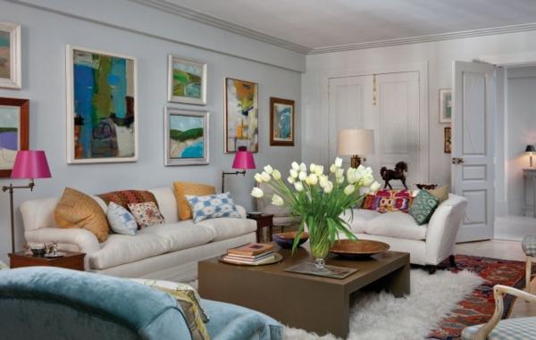 interioren dizain hol art stil obzavejdane divani kartini