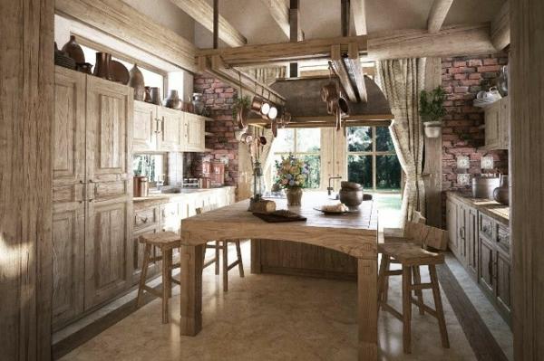 kuhnq tradicionen stil dizain interior darvo kafqvo